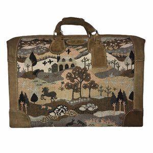 Rare KEA Vintage Leather Suitcase Bag